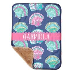"Preppy Sea Shells Sherpa Baby Blanket 30"" x 40"" (Personalized)"