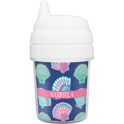 Preppy Sea Shells Baby Sippy Cup (Personalized)