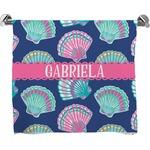 Preppy Sea Shells Full Print Bath Towel (Personalized)