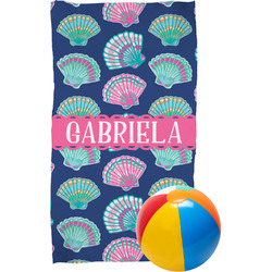 Preppy Sea Shells Beach Towel (Personalized)