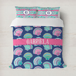 Preppy Sea Shells Duvet Cover (Personalized)