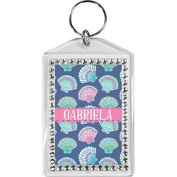 Preppy Sea Shells Bling Keychain (Personalized)