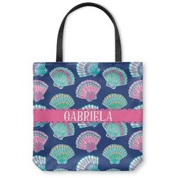 Preppy Sea Shells Canvas Tote Bag (Personalized)