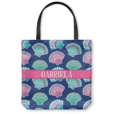 Preppy Sea Shells Canvas Tote Bag (Personalized)