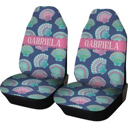 Preppy Sea Shells Car Seat Covers (Set of Two) (Personalized)