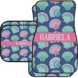 Preppy Sea Shells Car Floor Mats (Personalized)