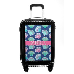 Preppy Sea Shells Carry On Hard Shell Suitcase (Personalized)