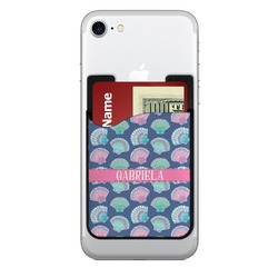 Preppy Sea Shells 2-in-1 Cell Phone Credit Card Holder & Screen Cleaner (Personalized)