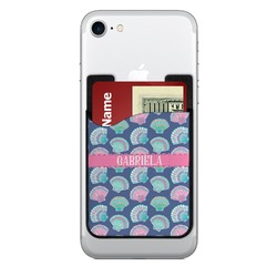 Preppy Sea Shells Cell Phone Credit Card Holder (Personalized)