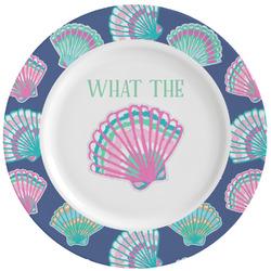 Preppy Sea Shells Ceramic Dinner Plates (Set of 4) (Personalized)