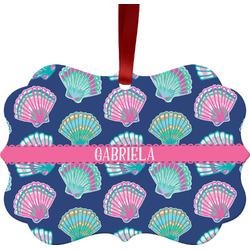 Preppy Sea Shells Ornament (Personalized)