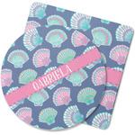 Preppy Sea Shells Rubber Backed Coaster (Personalized)