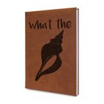 Preppy Sea Shells Leatherette Journal (Personalized)
