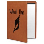Preppy Sea Shells Leatherette Portfolio with Notepad (Personalized)