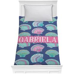 Preppy Sea Shells Comforter - Twin (Personalized)