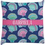 Preppy Sea Shells Decorative Pillow Case (Personalized)