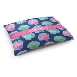 Preppy Sea Shells Dog Bed - Medium w/ Name or Text