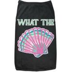 Preppy Sea Shells Black Pet Shirt (Personalized)