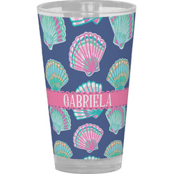 Preppy Sea Shells Drinking / Pint Glass (Personalized)