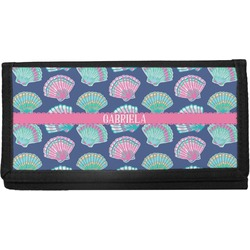 Preppy Sea Shells Canvas Checkbook Cover (Personalized)