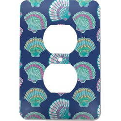 Preppy Sea Shells Electric Outlet Plate (Personalized)