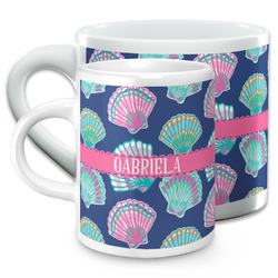 Preppy Sea Shells Espresso Cups (Personalized)
