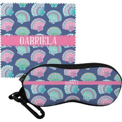 Preppy Sea Shells Eyeglass Case & Cloth (Personalized)