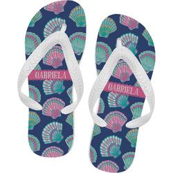 Preppy Sea Shells Flip Flops - XSmall (Personalized)