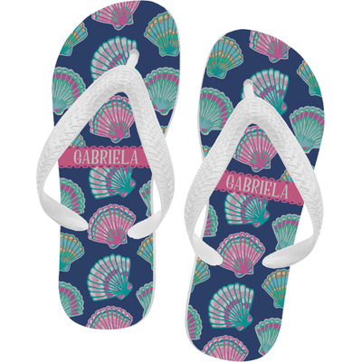 07e9c0e3713e Preppy Sea Shells Flip Flops (Personalized) - YouCustomizeIt