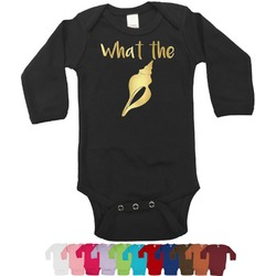 Preppy Sea Shells Foil Bodysuit - Long Sleeves - 6-12 months - Gold, Silver or Rose Gold (Personalized)