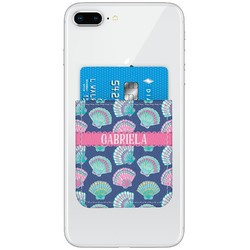 Preppy Sea Shells Genuine Leather Adhesive Phone Wallet (Personalized)