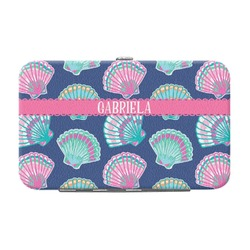 Preppy Sea Shells Genuine Leather Small Framed Wallet (Personalized)