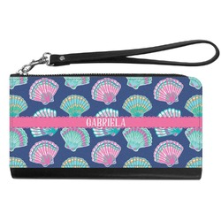 Preppy Sea Shells Genuine Leather Smartphone Wrist Wallet (Personalized)