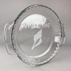 Preppy Sea Shells Glass Pie Dish - 9.5in Round (Personalized)