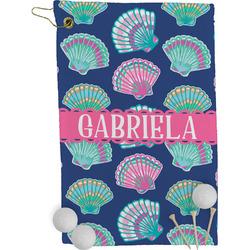 Preppy Sea Shells Golf Towel - Full Print (Personalized)