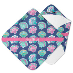 Preppy Sea Shells Hooded Baby Towel (Personalized)