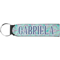 Preppy Sea Shells Neoprene Keychain Fob (Personalized)
