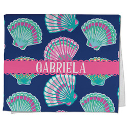 Preppy Sea Shells Kitchen Towel - Full Print (Personalized)