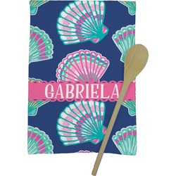 Preppy Sea Shells Kitchen Towel - Full Print (Personalized)