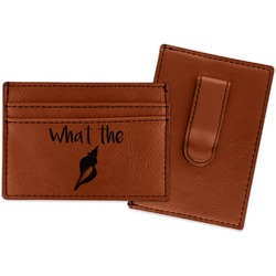Preppy Sea Shells Leatherette Wallet with Money Clip (Personalized)