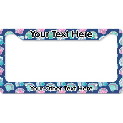 Preppy Sea Shells License Plate Frame (Personalized)