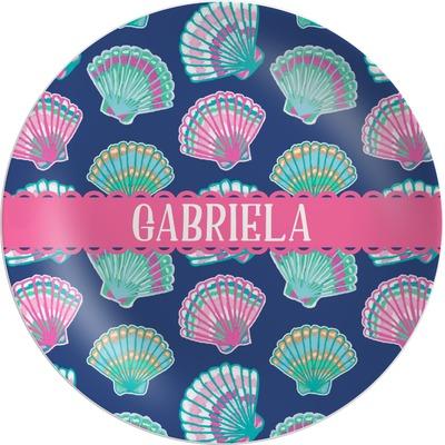 Preppy Sea Shells Melamine Plate (Personalized)