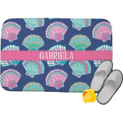 Preppy Sea Shells Memory Foam Bath Mat (Personalized)