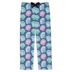 Preppy Sea Shells Mens Pajama Pants (Personalized)
