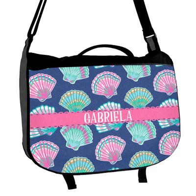 Preppy Sea Shells Messenger Bag (Personalized)
