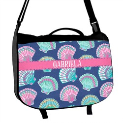 Preppy Sea Shells Messenger Bag (Personalized)