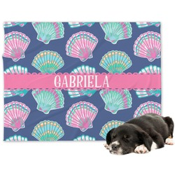 Preppy Sea Shells Dog Blanket (Personalized)