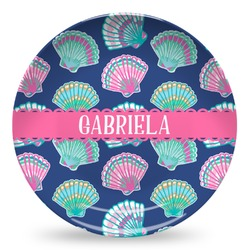 Preppy Sea Shells Microwave Safe Plastic Plate - Composite Polymer (Personalized)