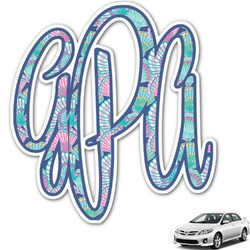 Preppy Sea Shells Monogram Car Decal (Personalized)
