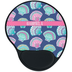 Preppy Sea Shells Mouse Pad with Wrist Support